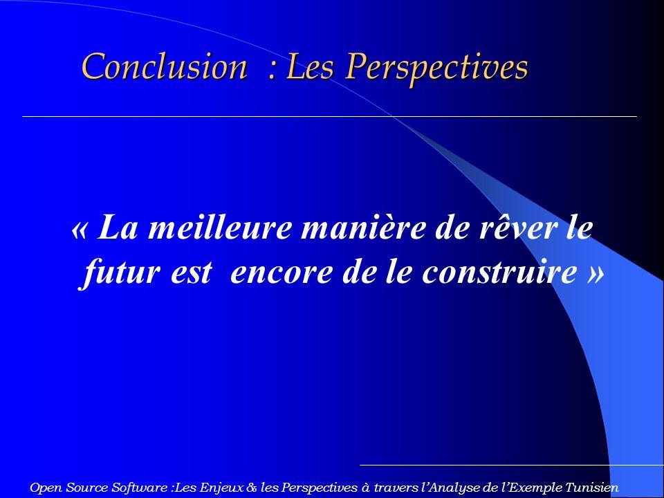 Conclusion : Les Perspectives