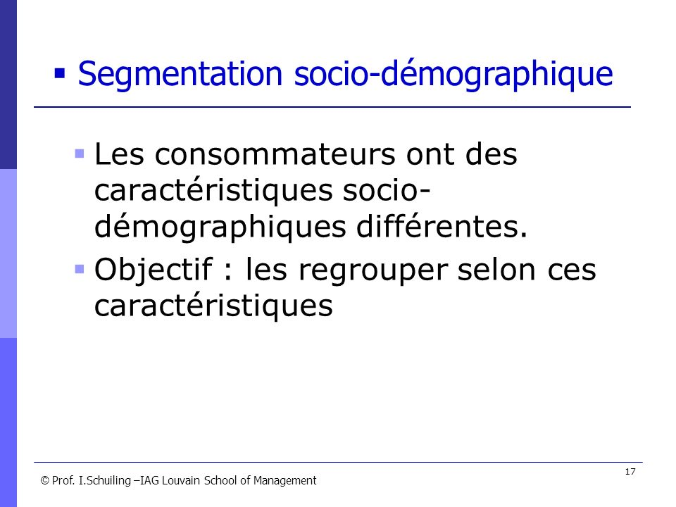 Segmentation socio-démographique