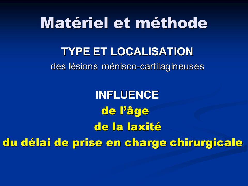 des lésions ménisco-cartilagineuses