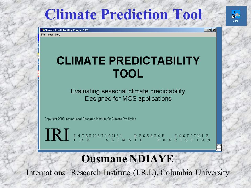 Climate Prediction Tool