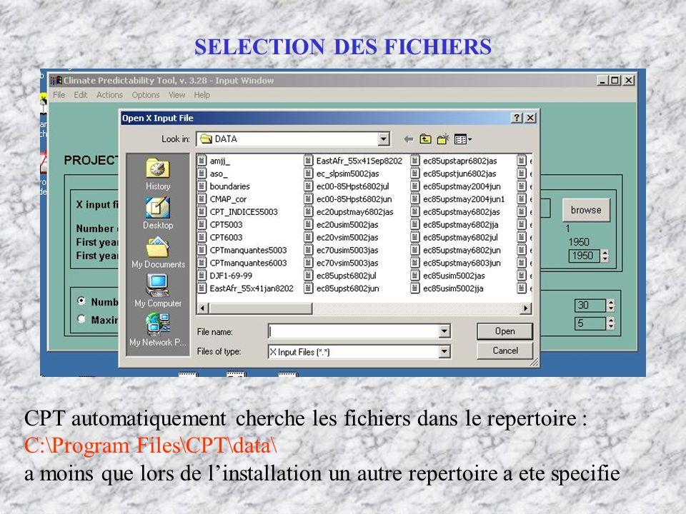 SELECTION DES FICHIERS