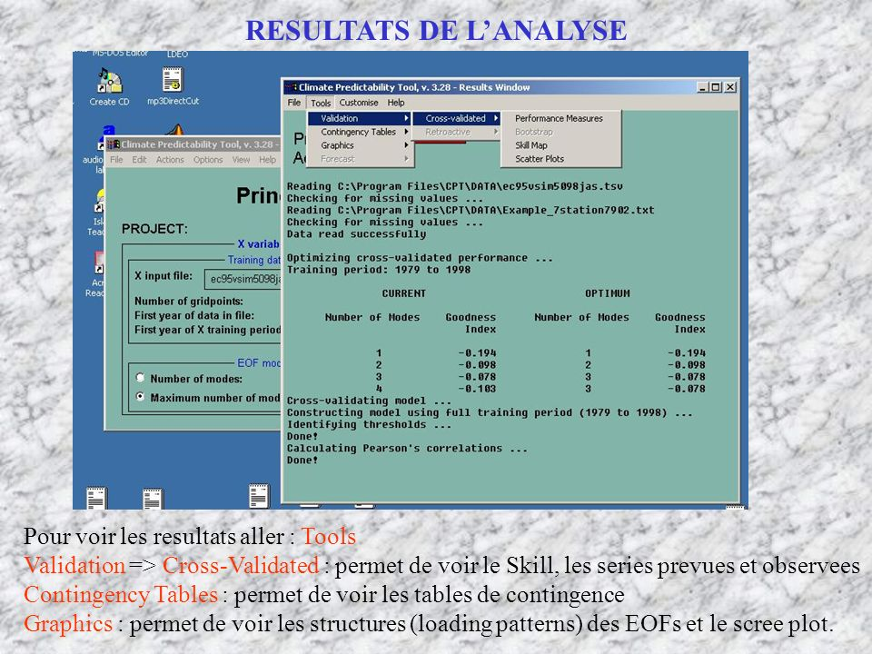 RESULTATS DE L'ANALYSE