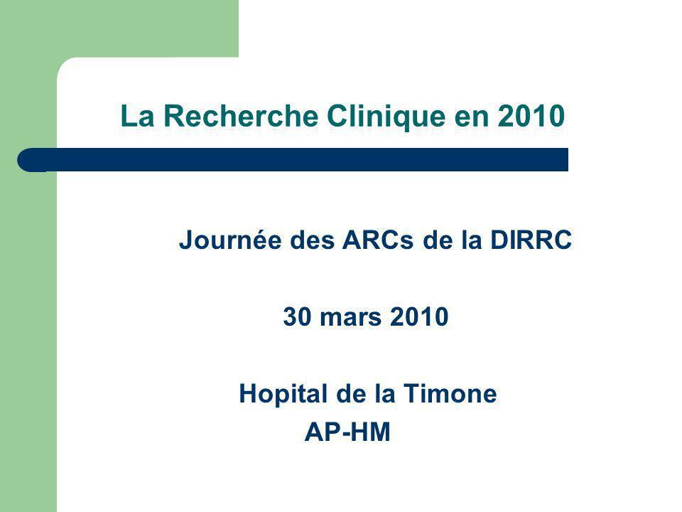 La Recherche Clinique en 2010
