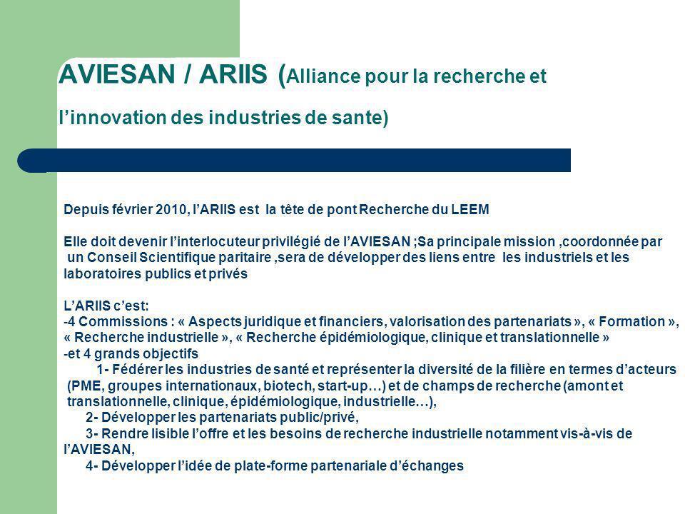 AVIESAN / ARIIS (Alliance pour la recherche et l'innovation des industries de sante)