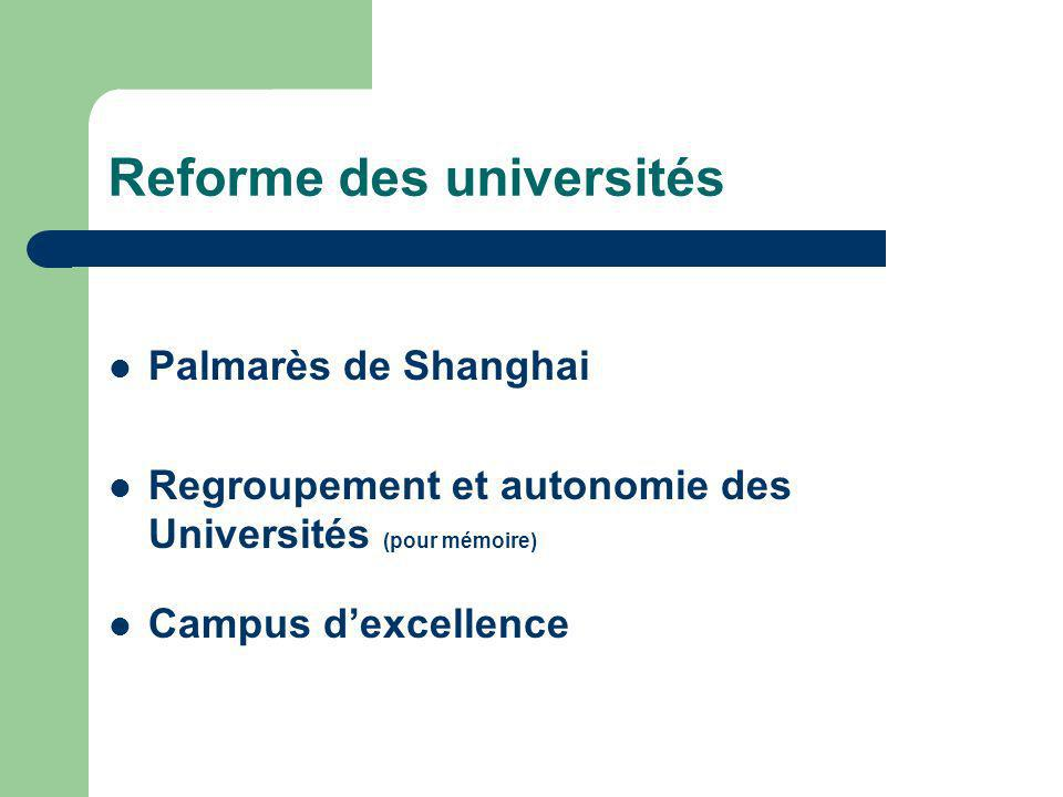 Reforme des universités