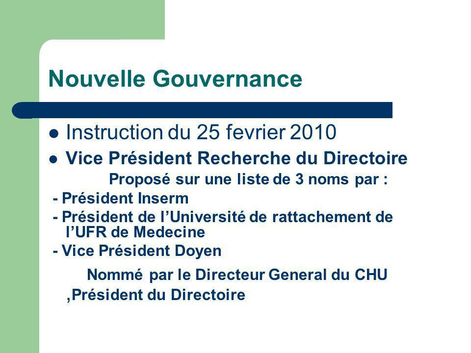 Nouvelle Gouvernance Instruction du 25 fevrier 2010