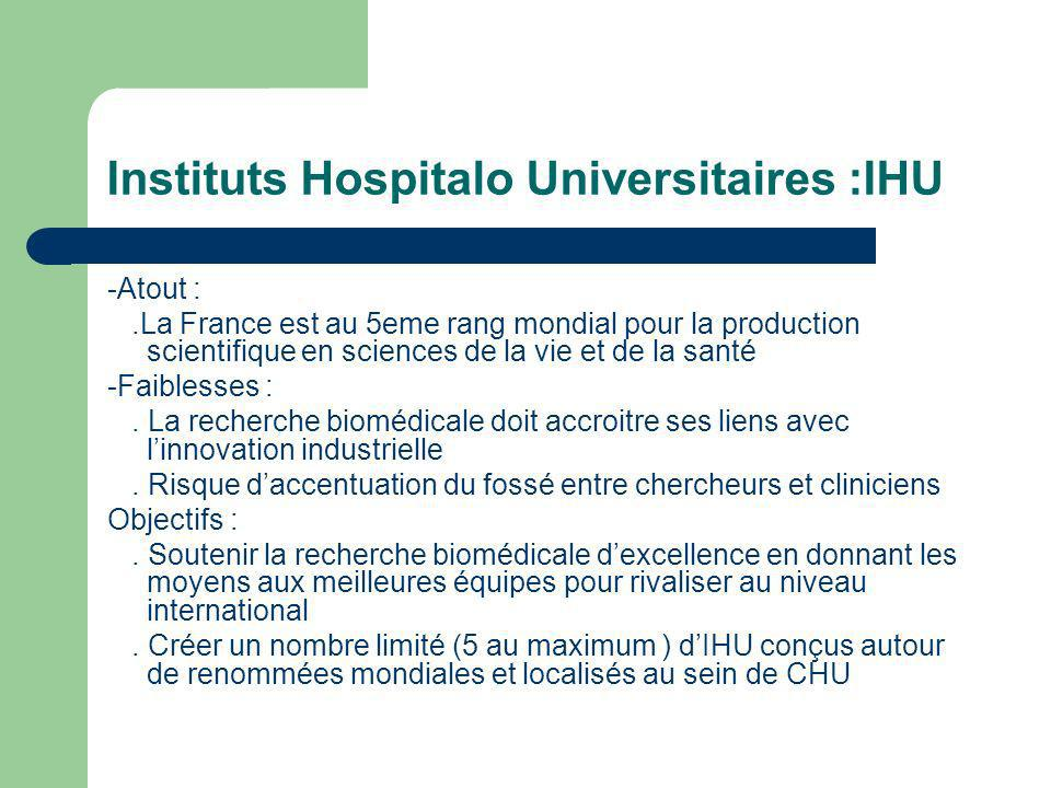 Instituts Hospitalo Universitaires :IHU