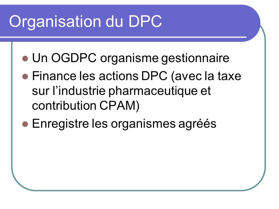 Organisation du DPC Un OGDPC organisme gestionnaire