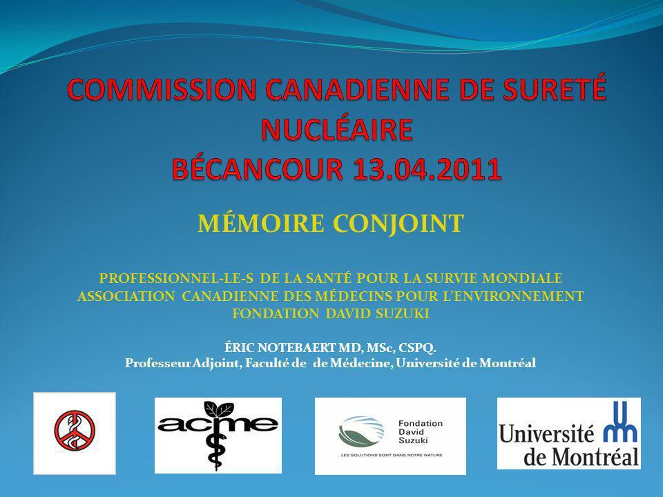 COMMISSION CANADIENNE DE SURETÉ NUCLÉAIRE BÉCANCOUR 13.04.2011