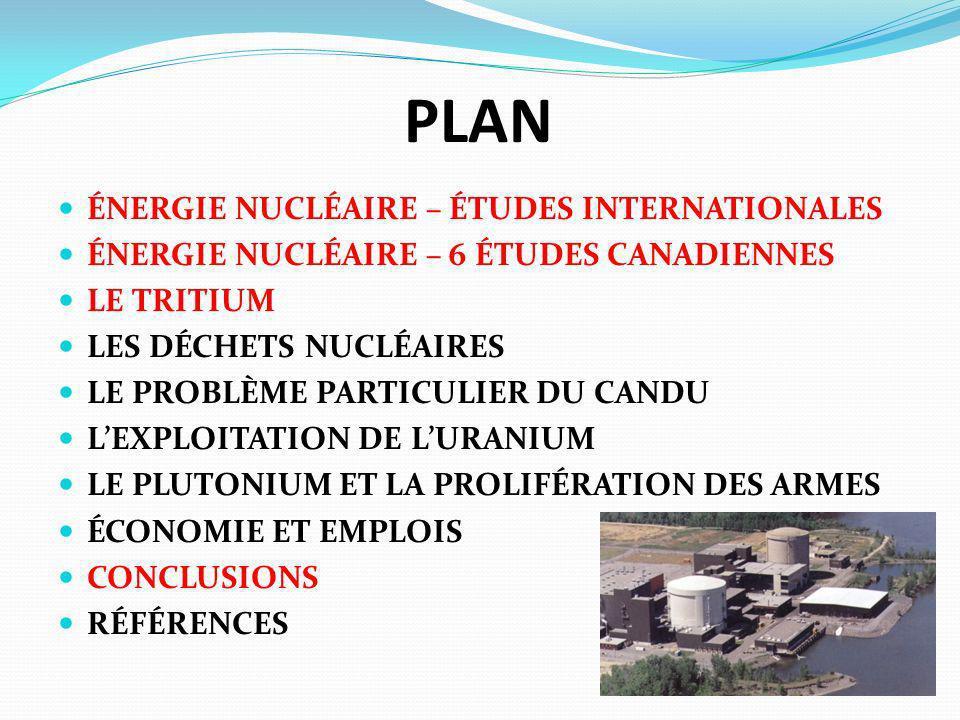 PLAN ÉNERGIE NUCLÉAIRE – ÉTUDES INTERNATIONALES