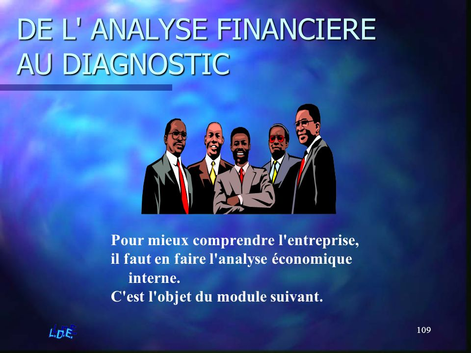 DE L ANALYSE FINANCIERE AU DIAGNOSTIC