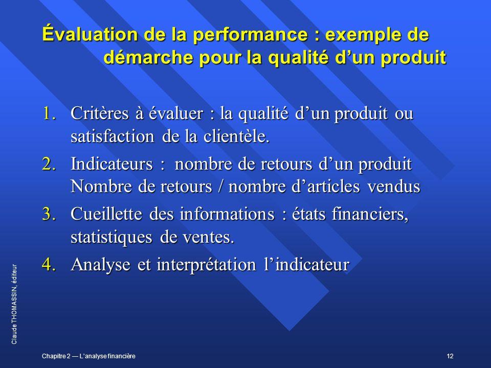 Évaluation de la performance : exemple de démarche pour la qualité d'un produit