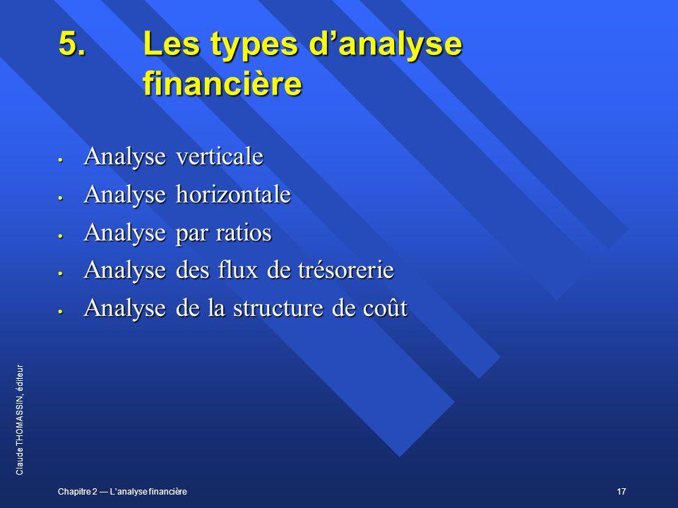 5. Les types d'analyse financière