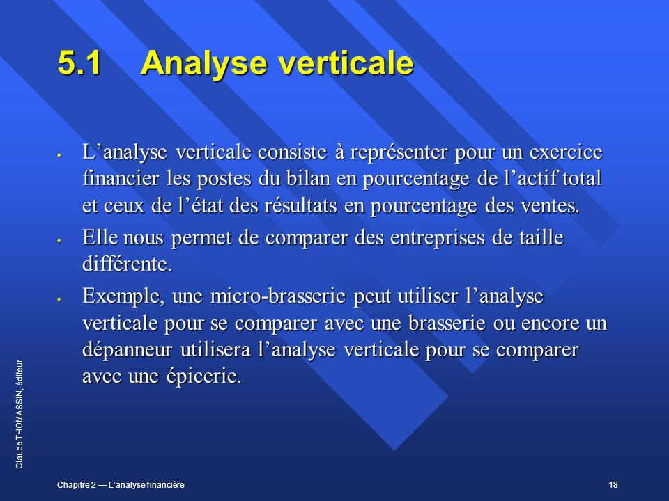 5.1 Analyse verticale