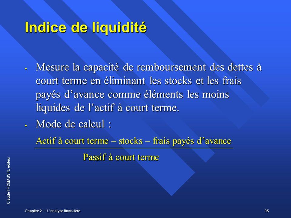 Indice de liquidité
