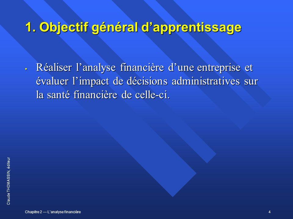 1. Objectif général d'apprentissage