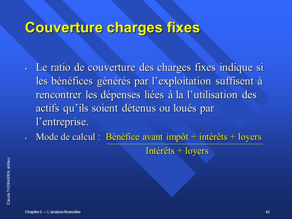 Couverture charges fixes