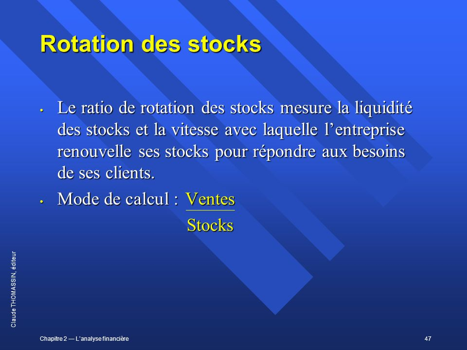Rotation des stocks
