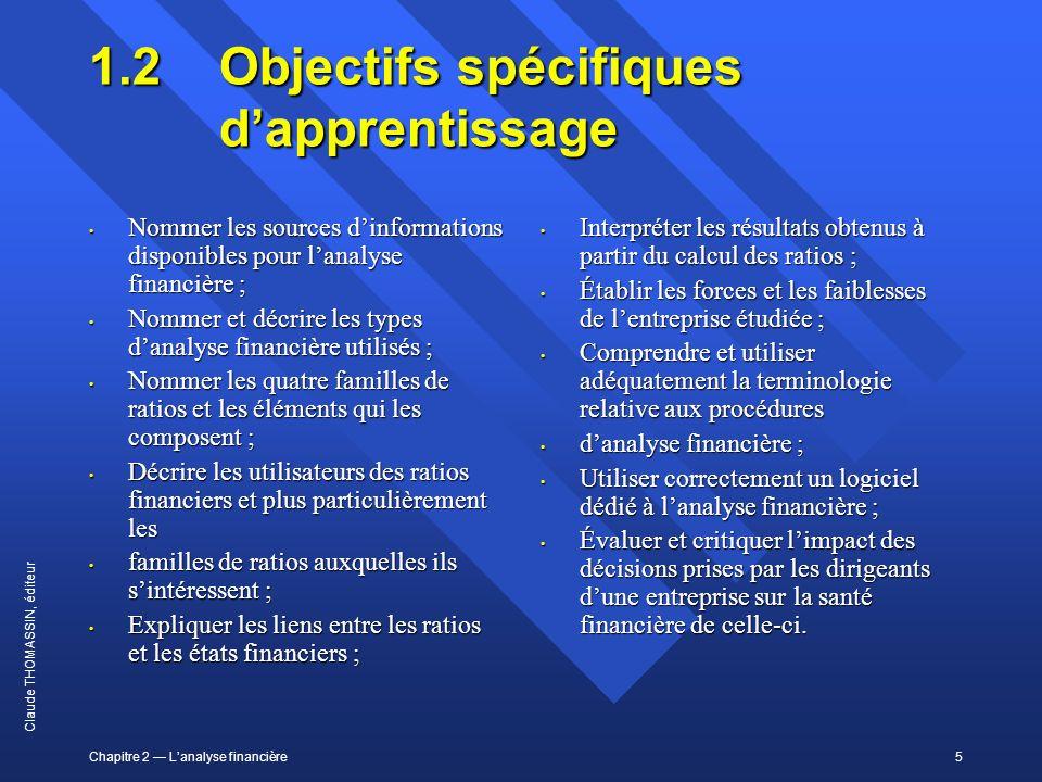 1.2 Objectifs spécifiques d'apprentissage