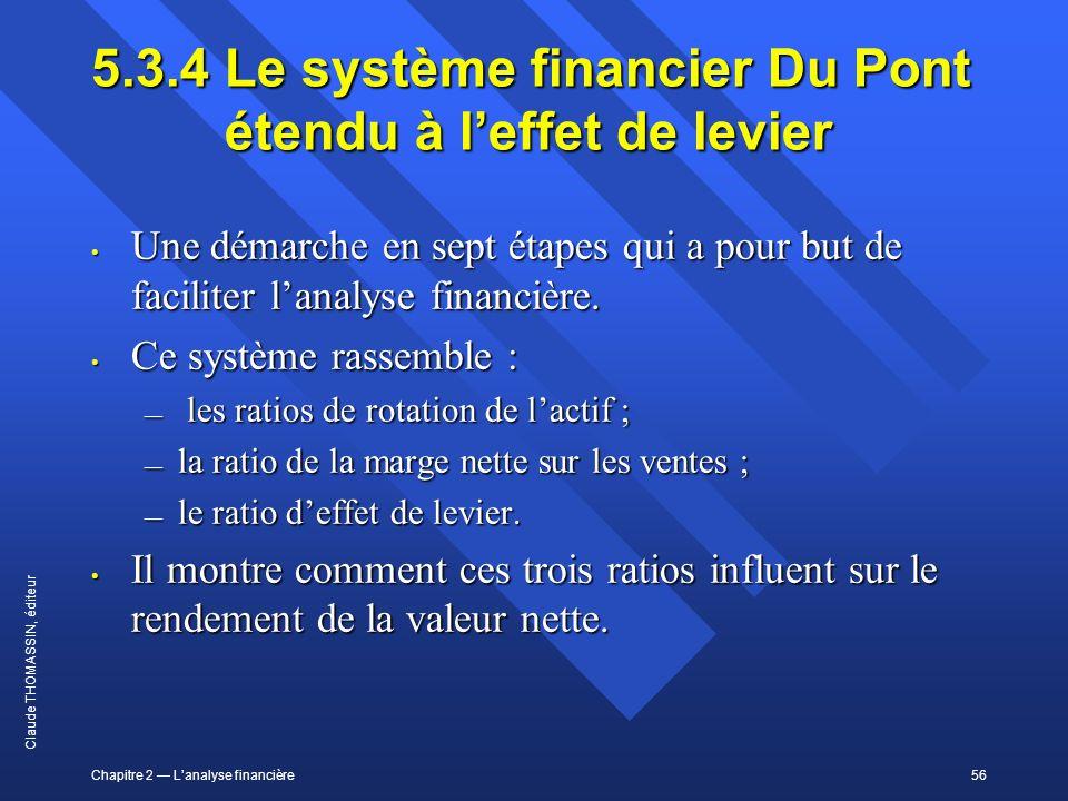 5.3.4 Le système financier Du Pont étendu à l'effet de levier