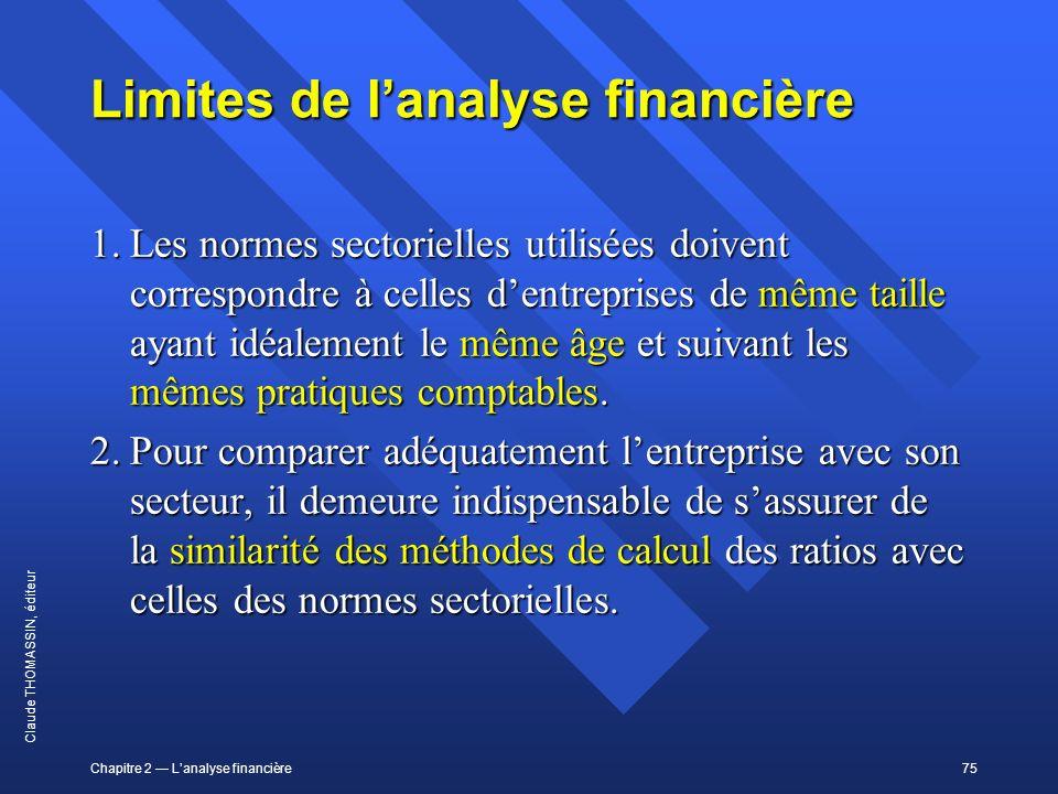 Limites de l'analyse financière