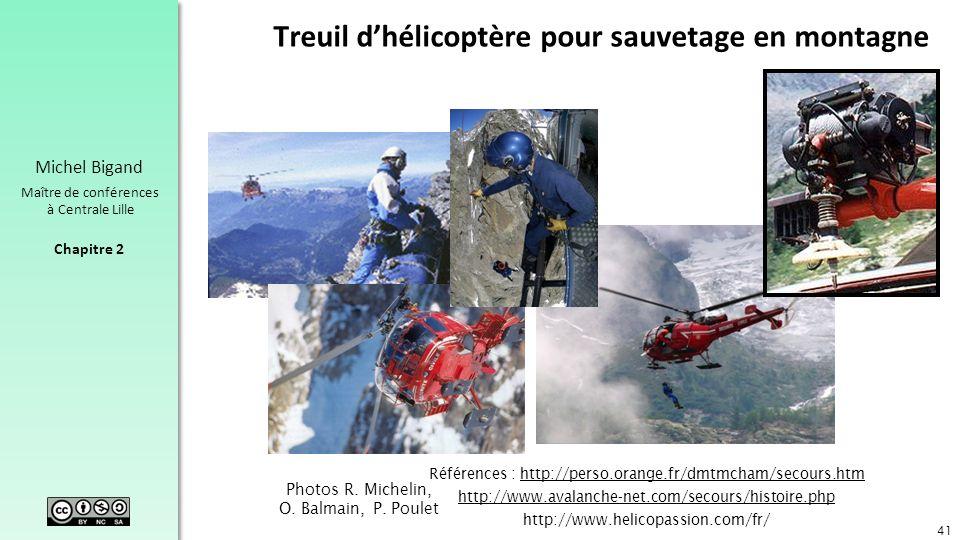 Treuil d'hélicoptère pour sauvetage en montagne