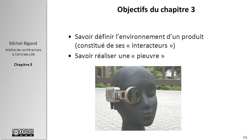 Objectifs du chapitre 3 Savoir définir l'environnement d'un produit (constitué de ses « interacteurs »)