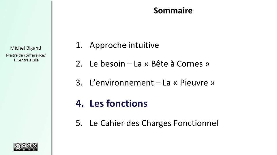 Les fonctions Sommaire Approche intuitive