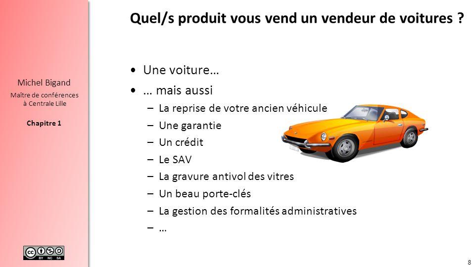 Quel/s produit vous vend un vendeur de voitures