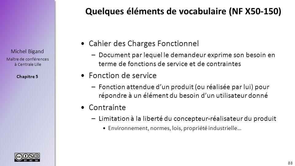 Quelques éléments de vocabulaire (NF X50-150)