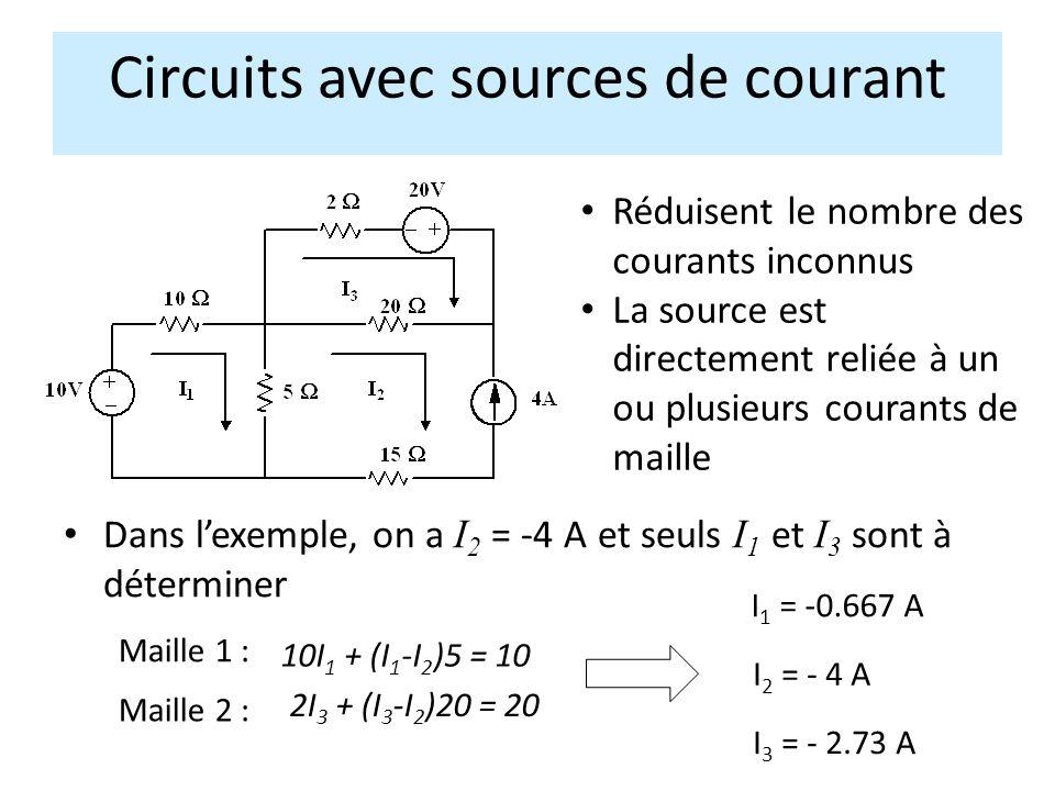 Circuits avec sources de courant