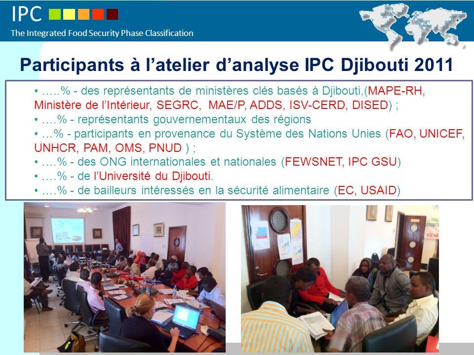 Participants à l'atelier d'analyse IPC Djibouti 2011