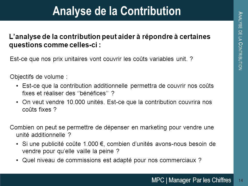 Analyse de la Contribution