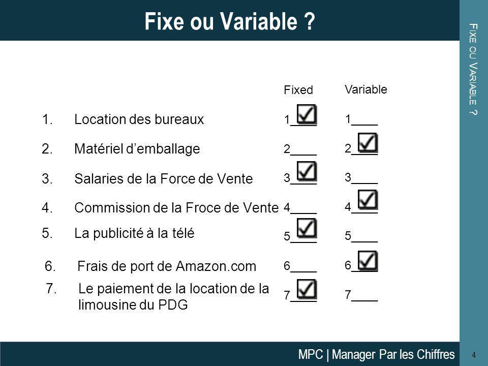 Fixe ou Variable Location des bureaux Matériel d'emballage