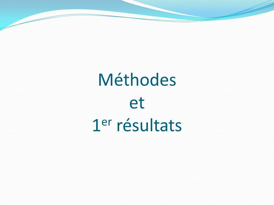 Méthodes et 1er résultats