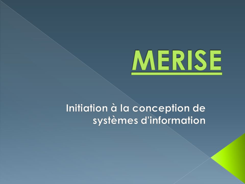 Initiation à la conception de systèmes d information
