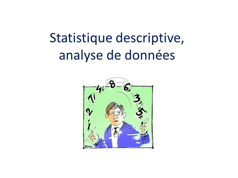 Statistique descriptive, analyse de données
