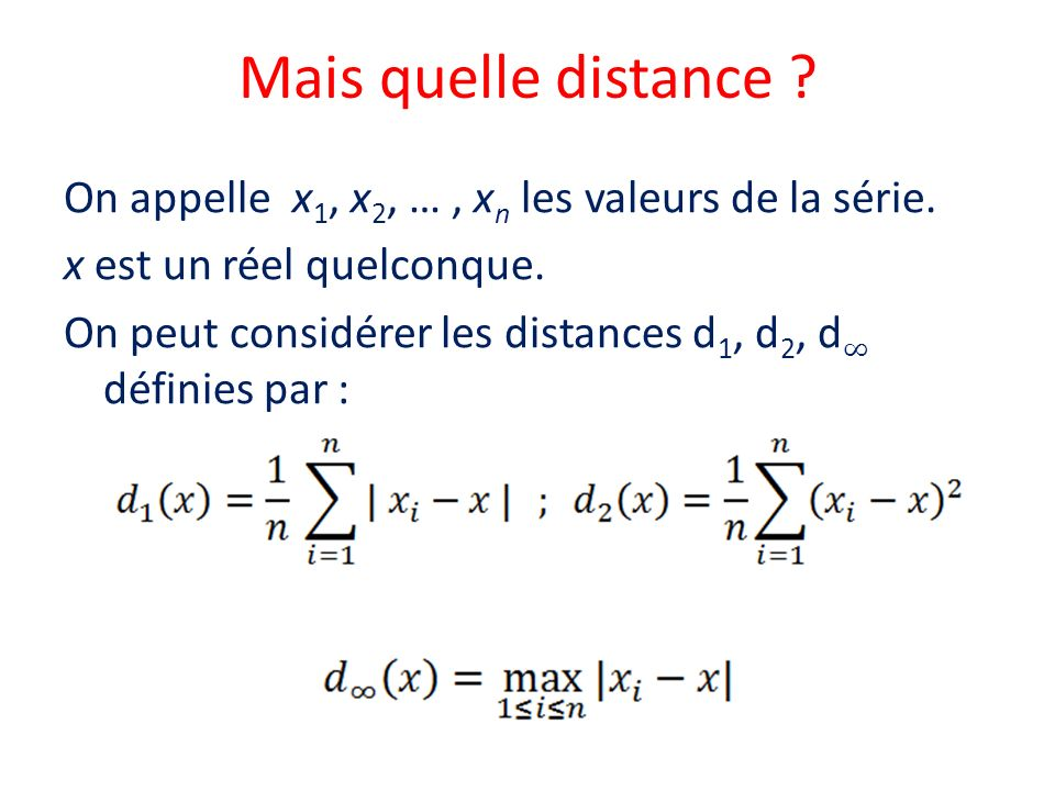 Mais quelle distance
