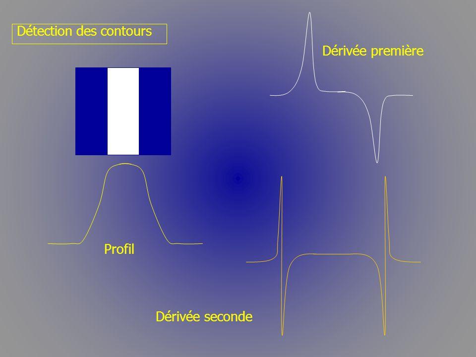 Dérivée première Détection des contours Dérivée seconde Profil