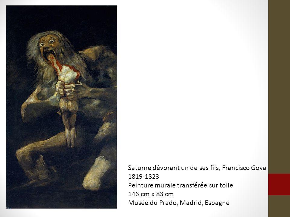 Saturne dévorant un de ses fils, Francisco Goya
