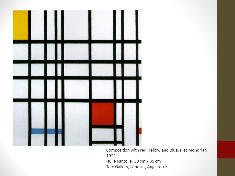 Composition with red, Yellow and Blue, Piet Mondrian