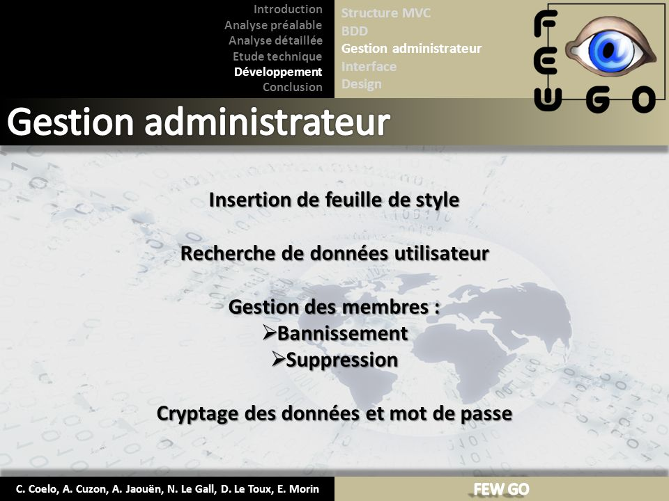Gestion administrateur