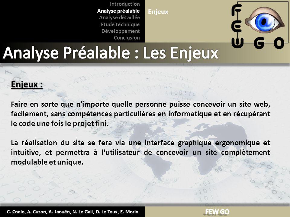 C. Coelo, A. Cuzon, A. Jaouën, N. Le Gall, D. Le Toux, E. Morin