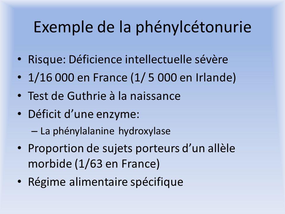 Exemple de la phénylcétonurie