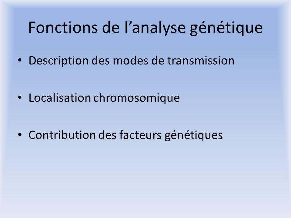Fonctions de l'analyse génétique