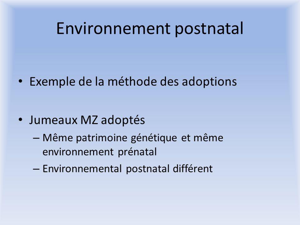 Environnement postnatal