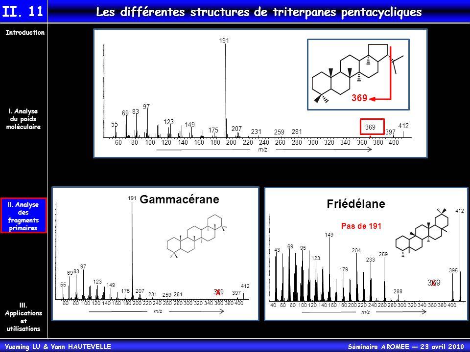 II. 11 Les différentes structures de triterpanes pentacycliques