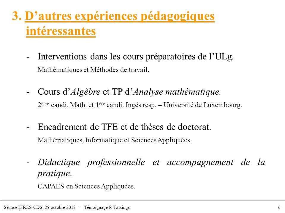 3. D'autres expériences pédagogiques intéressantes