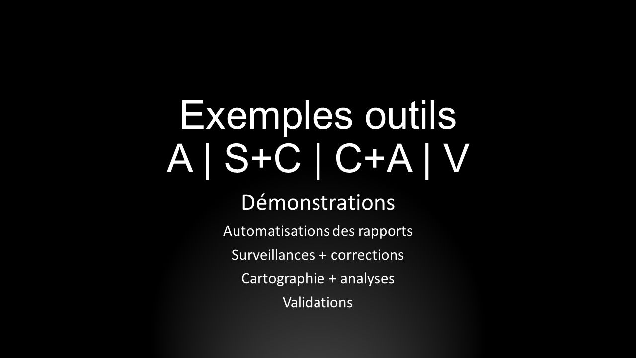 Exemples outils A | S+C | C+A | V