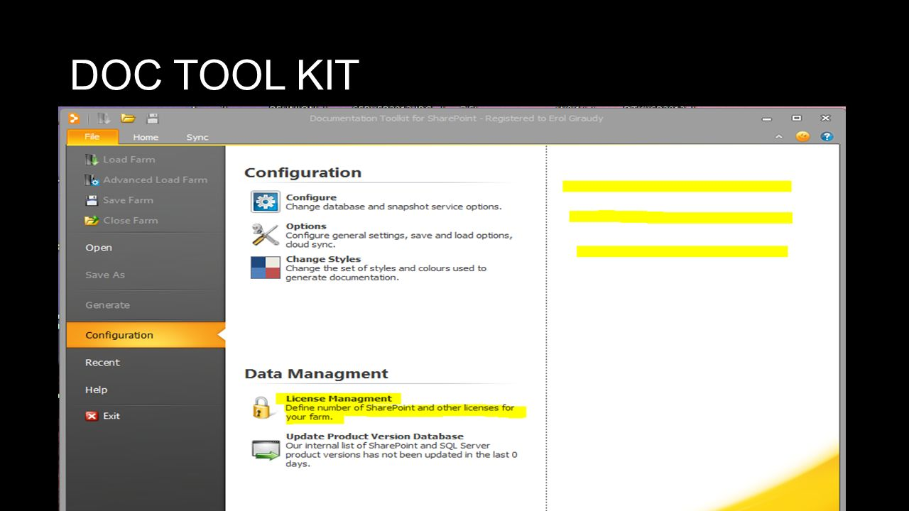 DOC TOOL KIT SP2013 INTRO : http://www.youtube.com/watch v=wTCRkdUEN98
